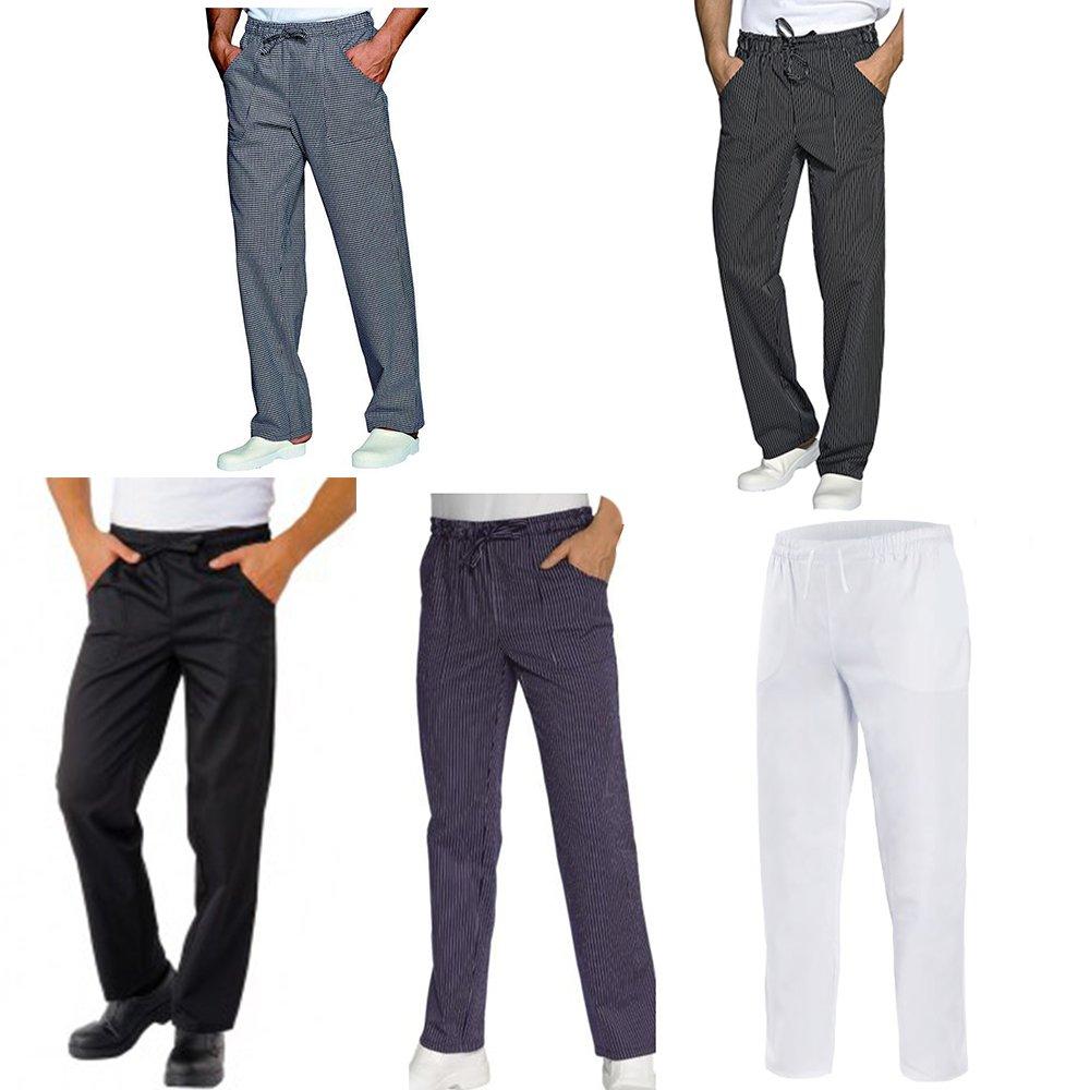 Pantaloni da Lavoro, Slim, con Laccio, Cotone, Cucina, Estetista, Ristorante, Pizzeria, Chef, Cuoco, Infermiere
