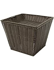 Expressly HUBERT Square Dark Brown Plastic Floor Display Basket 18 L X 20 H