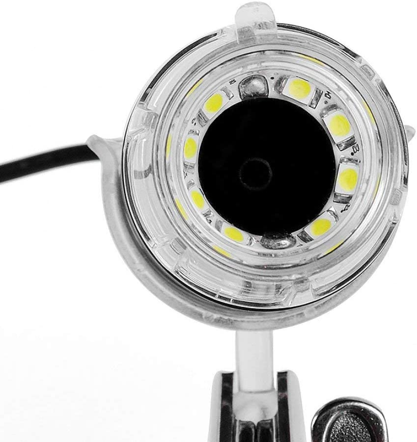 Negro HD Ampliar 500X Zoom Continuo 2 000 000 Imagen HD Microscopio Digital Conectado al Ordenador Vision Aids