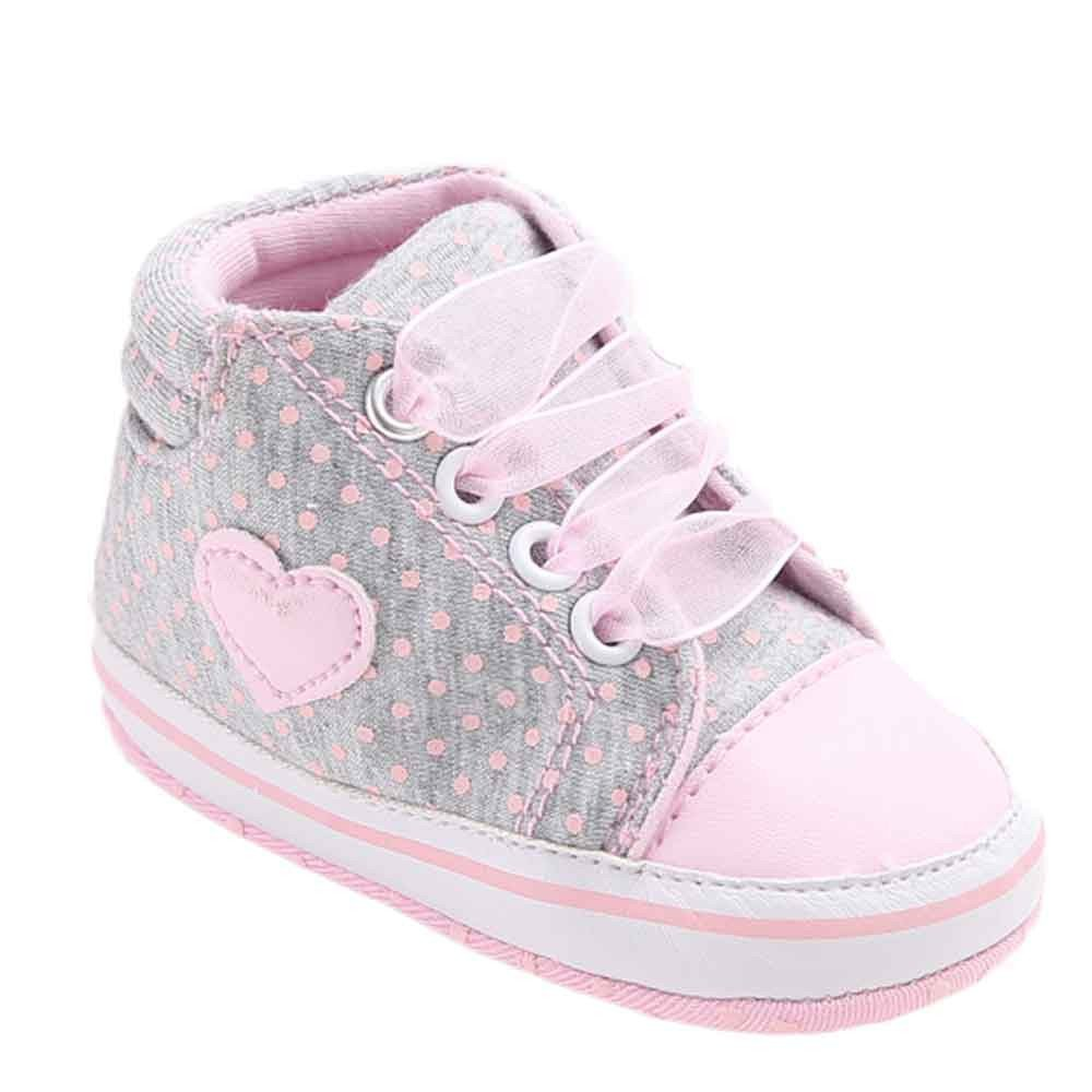 Voberry Baby Girls Toddler Lace up Sneaker Anti-Slip Boots Crib Shoes
