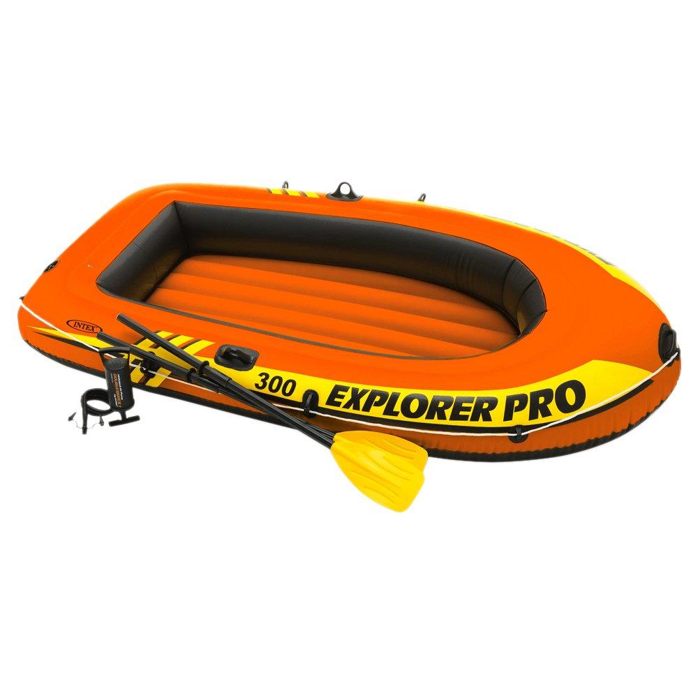 INTEX Explorer Pro 300 Set de Barco Hinchable, remos y hinchador, Unisex Adulto, 244 x 117 x 36 cm 0776019 arena bestway bote