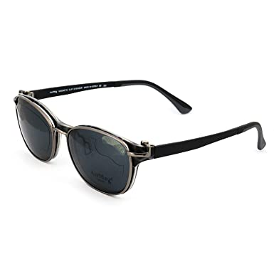 849c0ae68e2c AirMag AP6420 Eyeglasses - Frames with Magnetic Clip-On Polarized Sunglasses  - Black Tortoise 50
