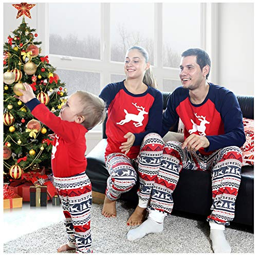 BOBORA Family Matching Pajamas, Christmas Deer Pjs Set Sleepwear -