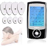 TENS Einheit,EMS Gerät Elektrische Muskelstimulator Maschine mit 16 Massage-Modi, 6 wiederverwendbare Elektrodenpads, Dual Channel für Schmerztherapie und Schmerzlinderung