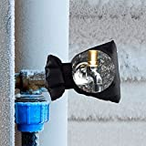 Quaanti 1 Pc Faucet Cover Faucet Freeze Protection for Outdoor Faucet Socks Outdoor Winter Faucet Door Knob Covers (Black)