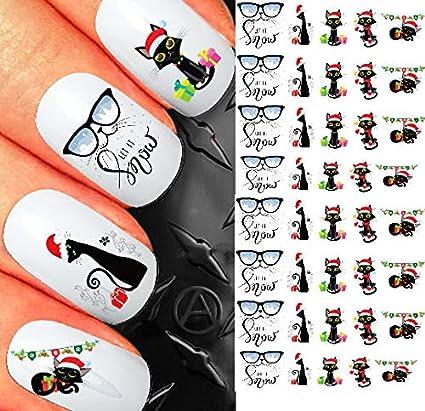 Cute Christmas Nails.Amazon Com Christmas Nail Decals Assortment 7 Ti239 Cute