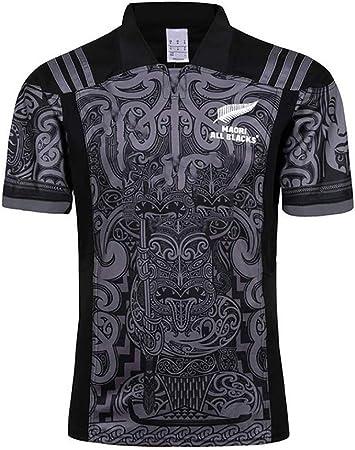 Hombres Rugby Jersey Team Nueva Zelanda Maori All Blacks Entrenamiento Copa Mundial Ropa Futbol Camiseta Deportiva Casual for Hombre (Size : XXXL): Amazon.es: Hogar