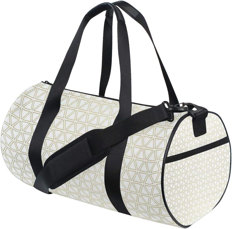 MALPLENA Golden Triangle Constitutional Diagram Drum gym duffel bag women Travel Bag