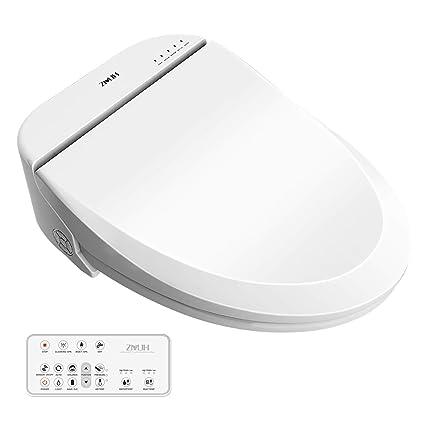 Phenomenal Zmjh Electronic Bidet Toilet Seat With Warm Water Air Drying Function Power Saving Bidet White Elongated Type Onthecornerstone Fun Painted Chair Ideas Images Onthecornerstoneorg