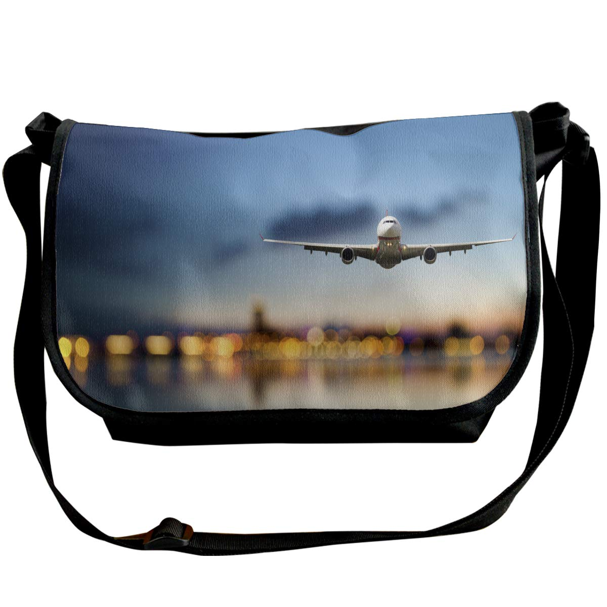 Futong Huaxia Airplane-Plane Travel Messenger Bags Handbag Shoulder Bag Crossbody Bag Unisex