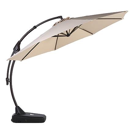 Картинки по запросу Grand Patio Deluxe 10 FT Curvy Aluminum Offset Umbrella
