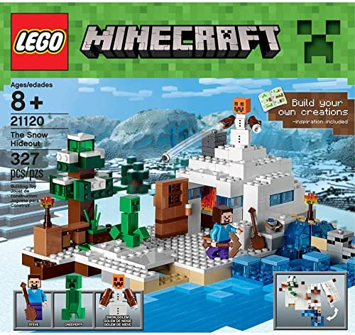 Lego-Star Wars-LEGOMinecraft Premium First Snow Hideout -Educational Toys-327 Pieces-Build to survive with The Snow Hideout-Guaranteed!