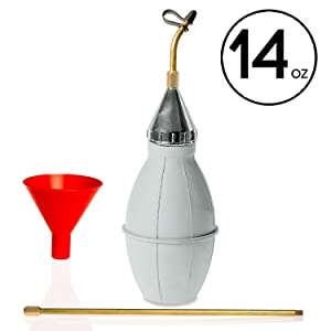 Punchau Pest Control Duster with 12 Inch Brass Extension - Bug Duster Evenly Dispenses Pesticide to Kill Bugs & Pests