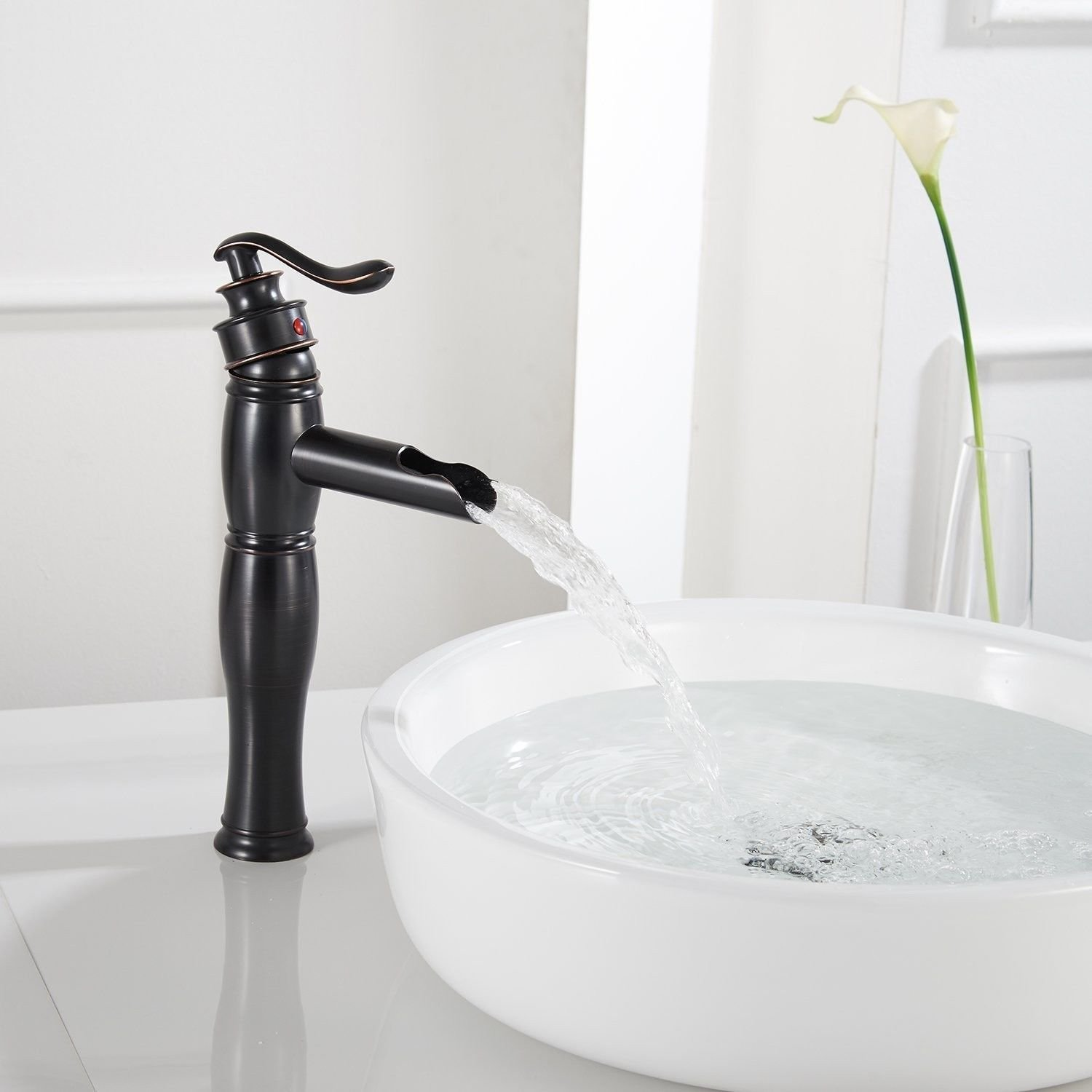 Gyps Faucet Basin Mixer Tap Waterfall Faucet Antique Bathroom Mixer Bar Mixer Shower Set Tap antique bathroom faucet Antique brass single handle one hole ceramic valve cold water spout waterfall bathr