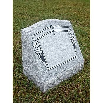 Amazon Com Upstate Stone Works Granite Headstone 24 X12 X4
