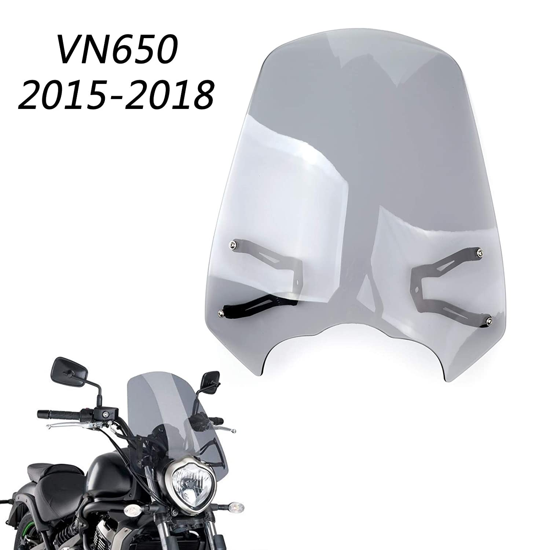 Artudatch Pare-brise de moto avant avec support pour K-A-W-A-S-A-K-I Vulcan S EN 650 2015-2018
