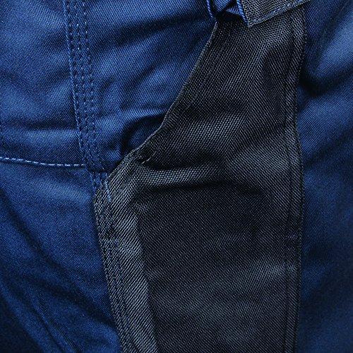 Trabalhador Preto 81 Azul Marinho Comprimento Rocha Preto Curta Calças Cm Homens Perna 3 xqTF1RwFa