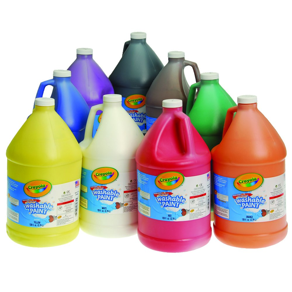 Crayola(R) Washable Tempera Paint - Set of 9 Gallons