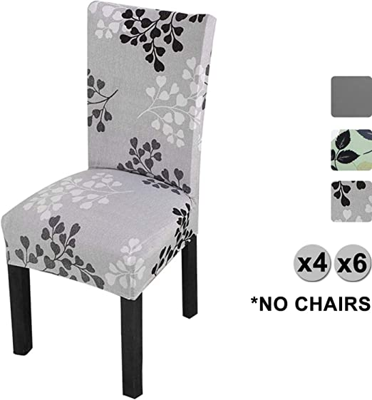 4//6 Pcs Dining Chair Covers Spandex Stretch Wedding Banquet Seat Slipcovers