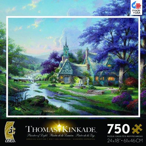 Thomas Kinkade Clocktower Cottage Jigsaw Puzzle