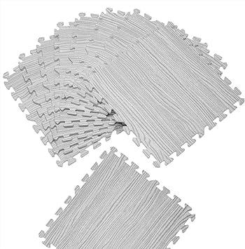 Couleur au Choix Tapis de Sol Protection 8 x 45,5 cm x 45,5 cm = 1,62m/² Anti-d/érapant Amortissement Bruit Hydrofuge 8 pi/èces Deuba Tapis Puzzle Aspect Bois