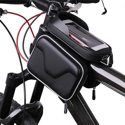 Huangjiahao - Bolsa para Bicicleta (Pantalla táctil, Impermeable ...