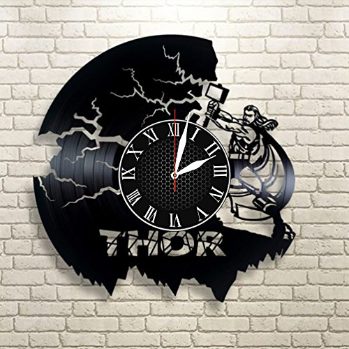 - Krykavskyi Art Design Marvel Comics Wall Clock Large, Thor Vinyl Wall Clock, Wall Clock Modern, Loki And Thor Gift For Boy, Birthday Gift, Loki And Thor Decor
