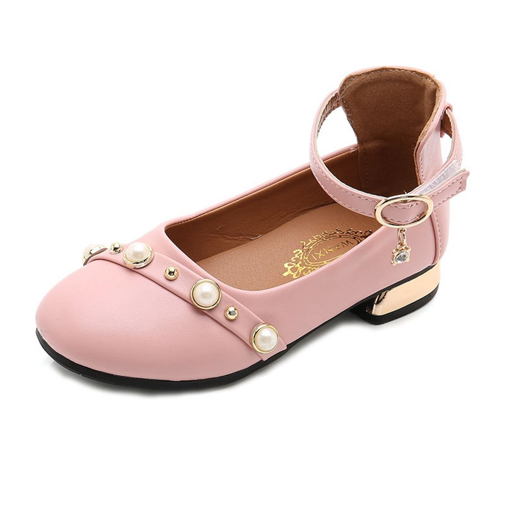 GIY Girl's Mary Jane Dress Ballet Pearl Casual Slip On Dressy Party Ballerina Flats Shoes
