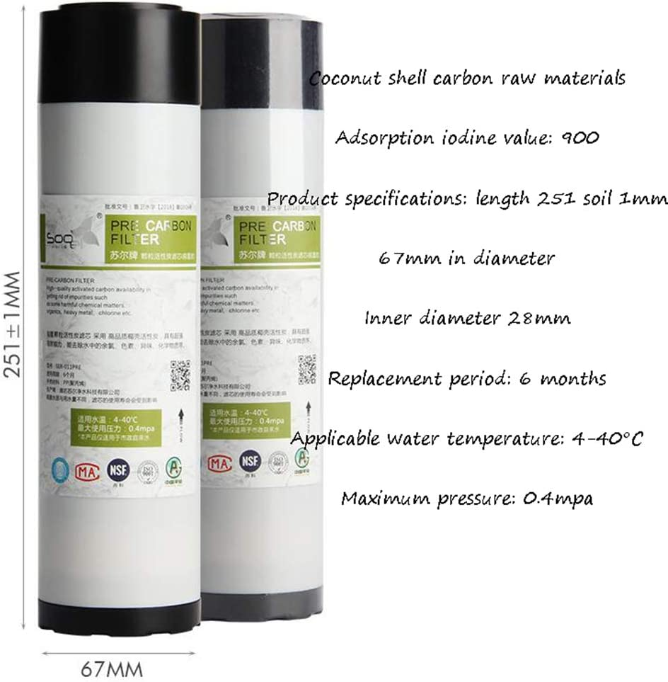 CHJ 10-Inch Universal Filter Element Five-Stage Reverse Osmosis Water Filtration System Suitable for Most Water Purifiers