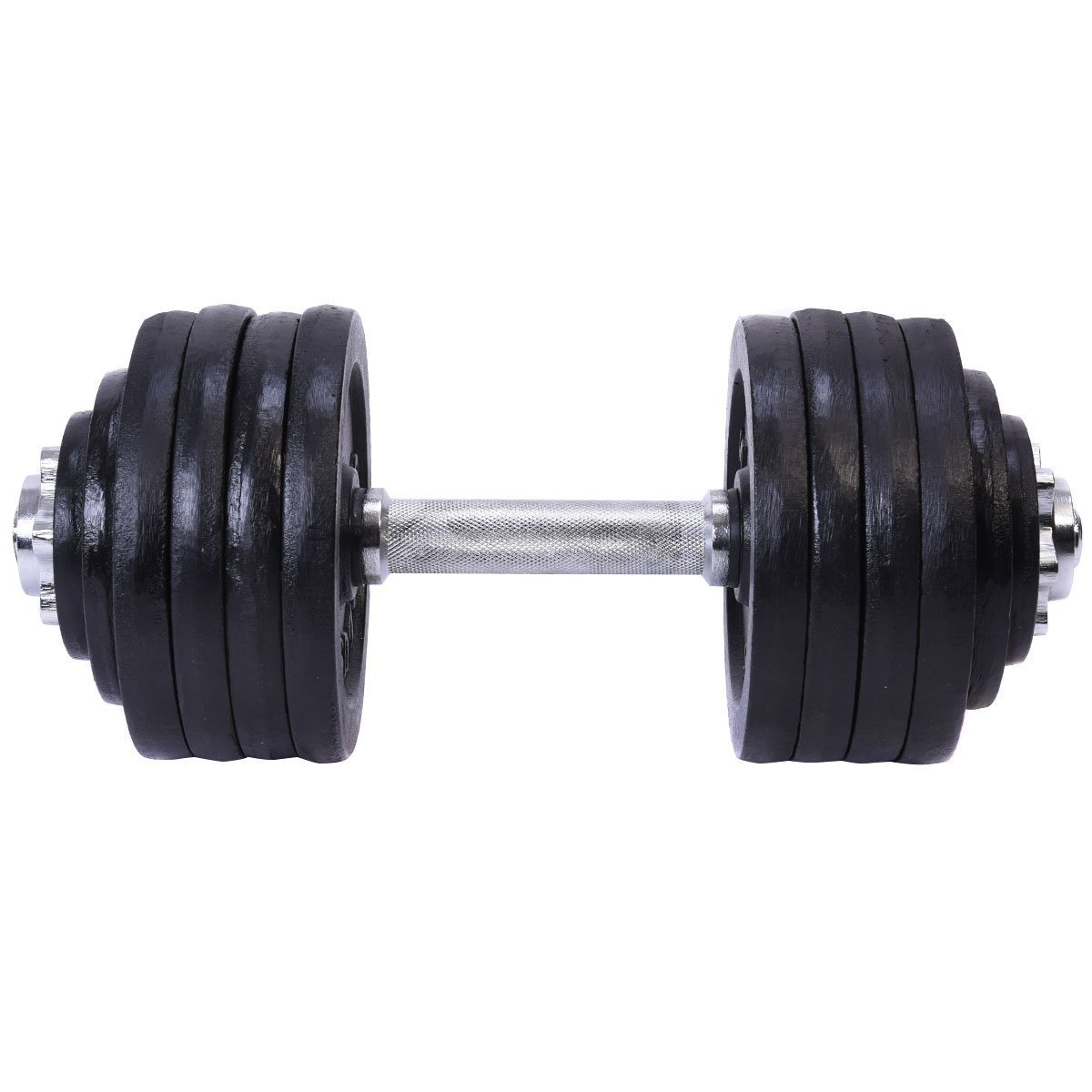 Giantex One 52.5 LB Weight Dumbbell Set Adjustable Cap Gym Barbell Plates Body Workout by Giantex