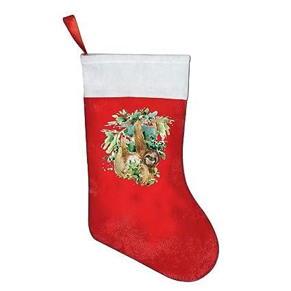 Amazon Com Lqldhj Sloth Tropical Animal Novelty Of Fashion Christmas Stocking Printed Christmas Holiday Socks Home Kitchen