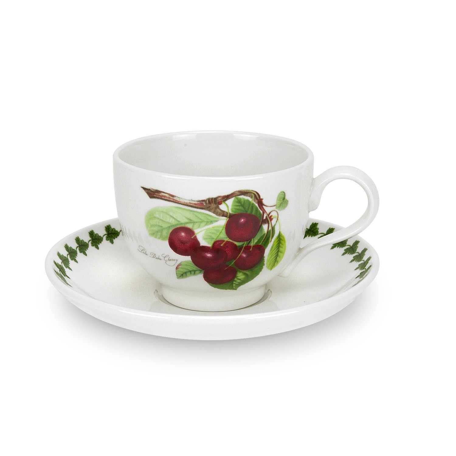 Portmeirion Pomona Traditional Shape Breakfast Cup and Saucer,  Set of 6 Assorted Motifs