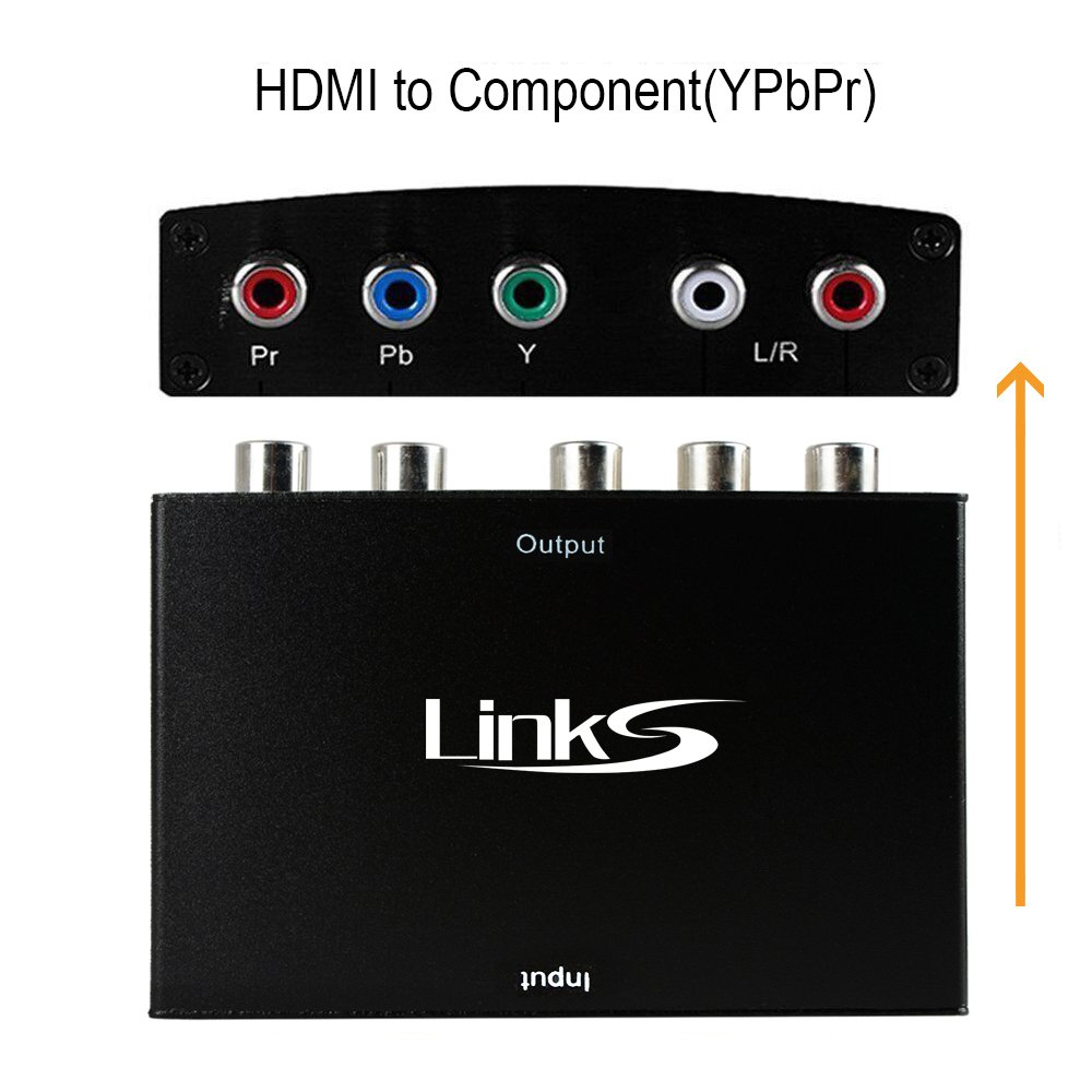 Links HDMI to Component Video (YPbPr) Converter Supporting R/L Audio Output AVEDIO LINKS