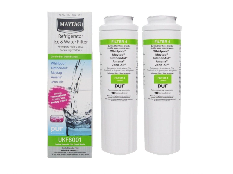 2-Pack Whirlpool Maytag Ukf8001 Pur 4396395 Refrigerator Water Filter 2