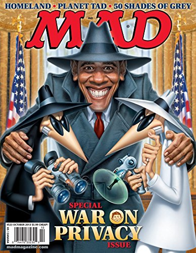 MAD Magazine (October 2013) The War on Privacy (Barack Obama, 50 Shades, Homeland, etc)