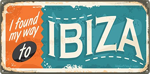 Oedim Matricula Decorativa 30,00 cm x 15,00 cm Ibiza | Decoración Pared | Aluminio 3 mm Resistente: Amazon.es: Hogar