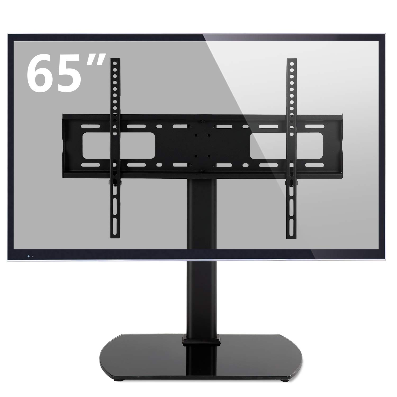 Rfiver Universal Swivel Tabletop TV Stand with Mount for 32 37 40 42 43 47 50 55 60 65 inch LED,LCD and Plasma Flat Screen TVs with Height Adjustment VESA 600x400mm, UT2001 by Rfiver