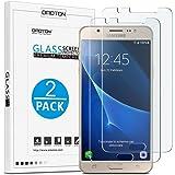 OMOTON Protector Pantalla Compatible para Cristal Templado Samsung Galaxy J5 2016, 2.5D Borde, Sin Burbujas, 2 Unidades