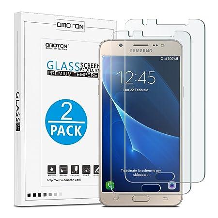 OMOTON [2 Stück] Panzerglas Displayschutzfolie nur für Samsung Galaxy J5 2016 [5,2 Zoll ], Anti-Kratzen, Anti-Öl, Anti-Bläsch