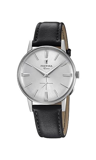 Festina Reloj Análogo clásico para Hombre de Cuarzo con Correa en Cuero F20248/1: Festina: Amazon.es: Relojes