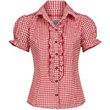 Gaudi-leathers Womens Shirt Ronda Red Checkered Size 40