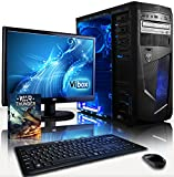 """VIBOX Centre Package 10 - 3.9GHz Multimedia, Desktop PC, Computer, Complete Full Package for the Home, Office or Family with WarThunder Game Bundle, 22"""" Widescreen Monitor, Keyboard & Mouse, Neon Internal LED Fans PLUS a Lifetime Warranty Included* (New 3"""