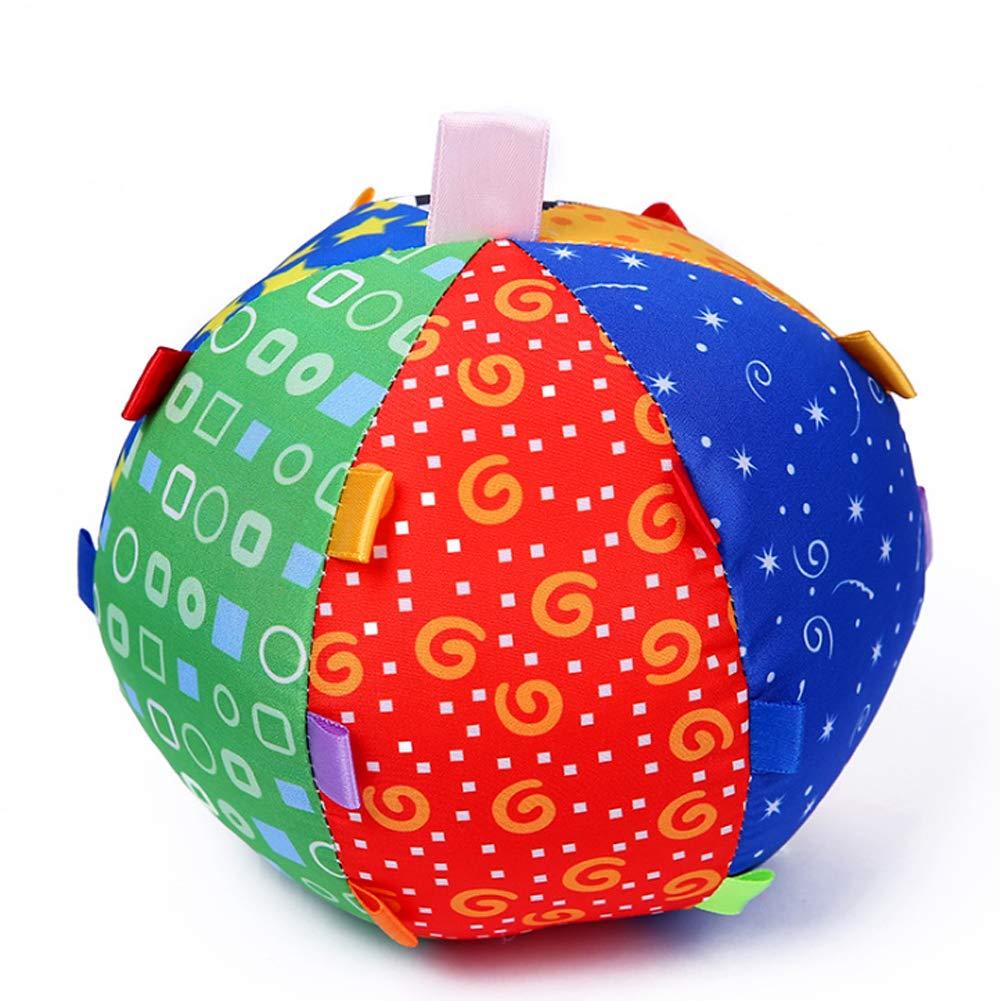 Newin Star Juquete Los niños de Colores Anillo de Bell de la Bola Anillo Durable del paño Felpa de la Bola de rastreo de Juguetes del bebé Juguetes educativos para la Primera