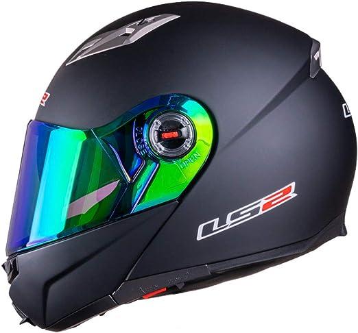 Vcoros Ls2 Ff370 Modulares Helmvisier Für Ff325 Ff394 Ff384 Motorradhelm Brille Chrome Green Auto