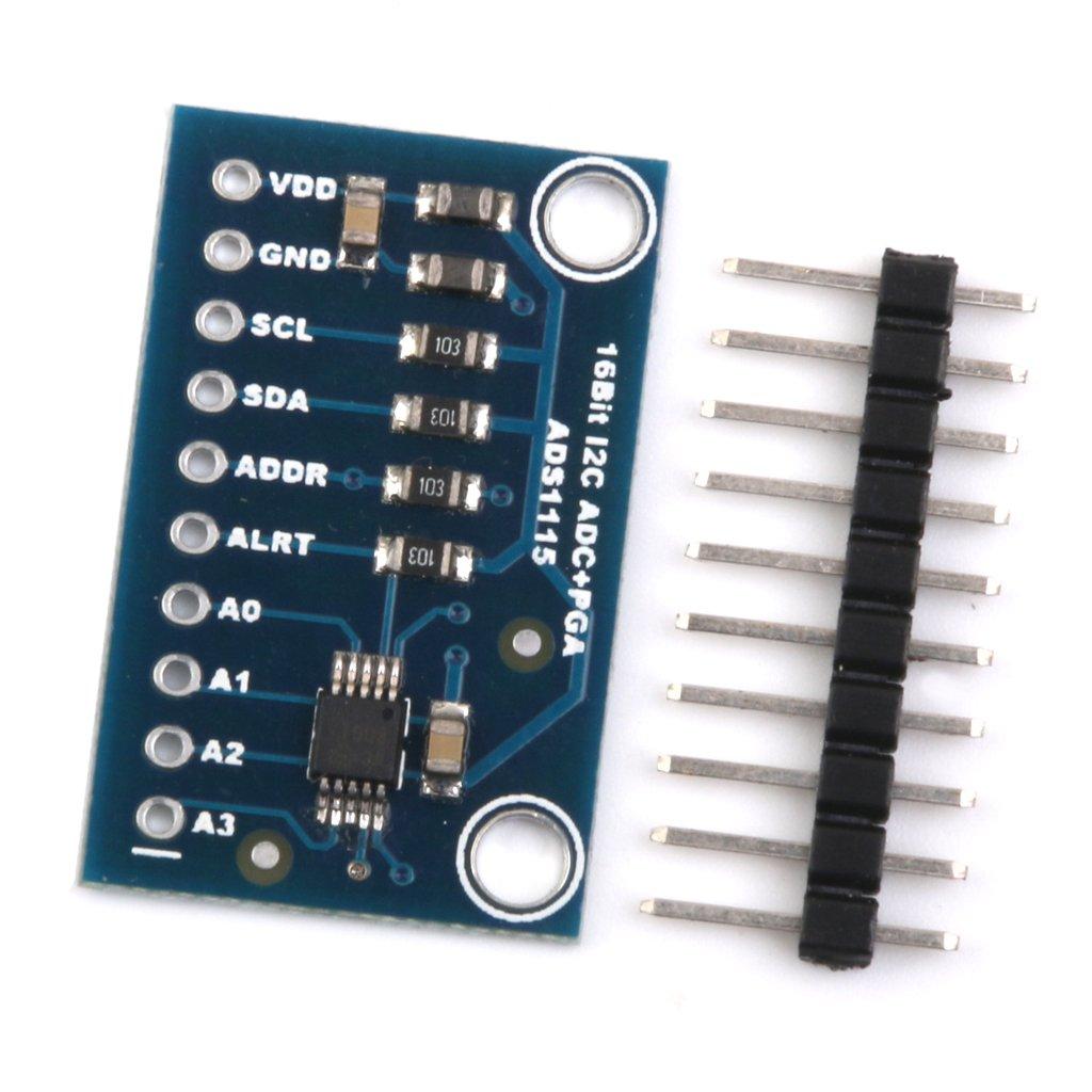 Modulo Ads1115 16 Bits ADC I2c 4 Canales Con Amplificador De Ganancia Para RPI Arduino generico STK0114013610