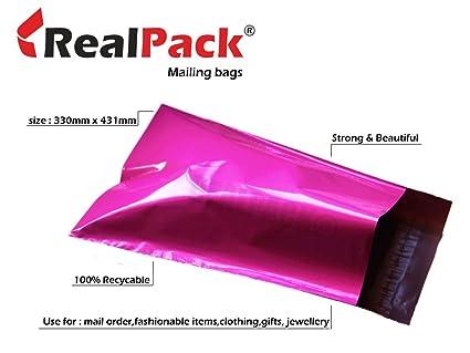 realpack® 1000 X rosa plástico Poly Bolsas de correo sobres ...