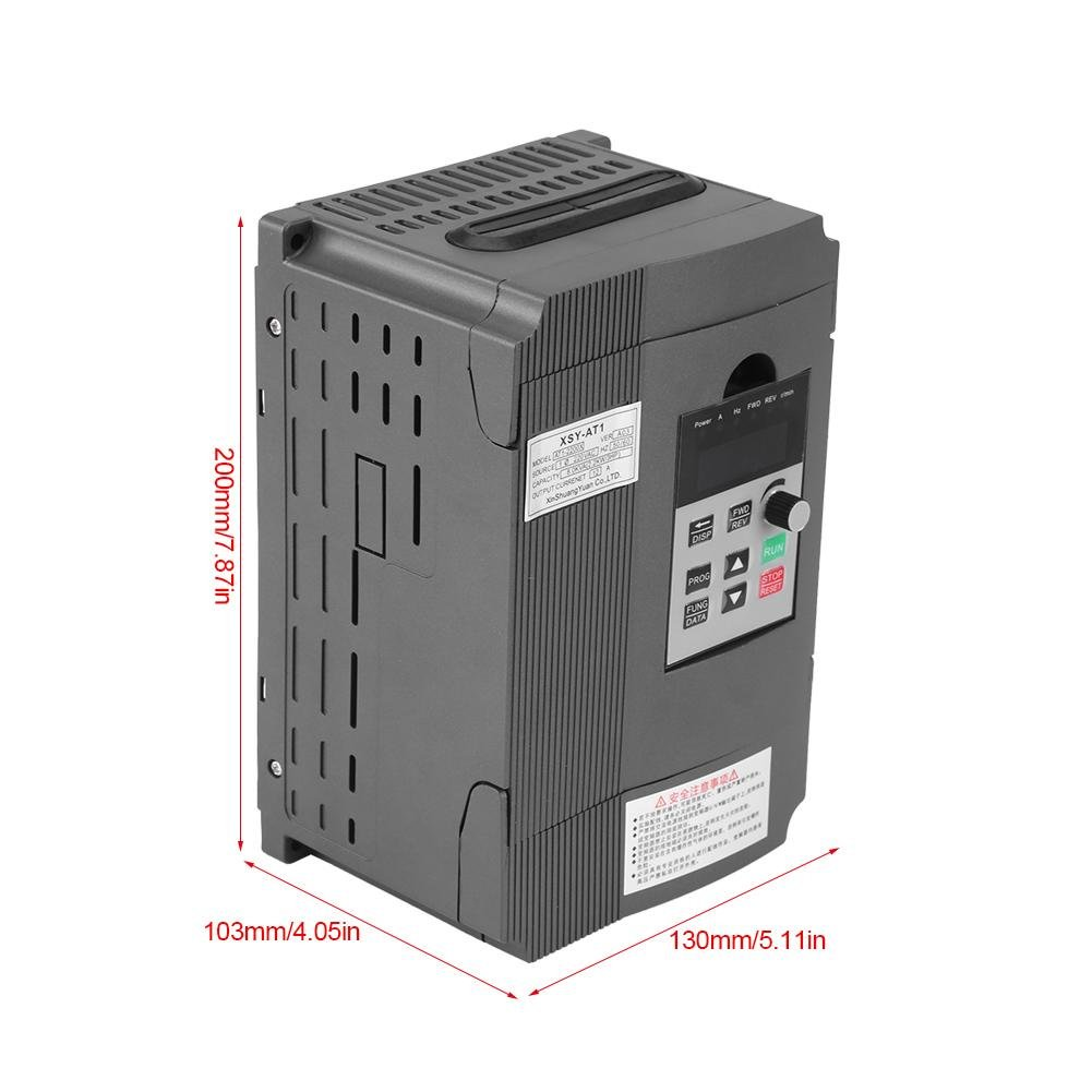 VFD Inverter Single to 3 Phase, 220V Variable Frequency Drive,Low Noise and Low Electromagnetic Interference,Large Torque,Speed Controller for 3-Phase 2.2KW AC Motor by Thincol (Image #6)