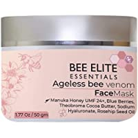 Best Anti Aging Mask : AGELESS BEEVENOM FACE Mask - 1.77 Oz | 50 gm | Anti Wrinkle Collagen Booster : Vitamin C, Hyaluronic Acid, Peptides, Vitamin E, Blueberries