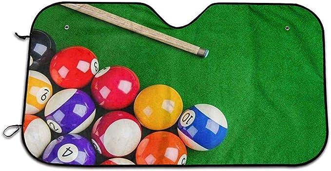 UQ Galaxy Auto Sol Protección,Bolas De Billar con Billar Cue Snooker Pool Game Vehículo Fresco Proteja Su Automóvil del Calor del Sol Y El Protector De Visera De Rayos UV 130X70Cm: Amazon.es: