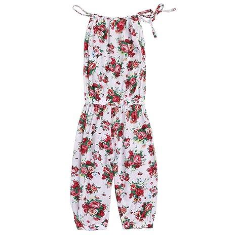 domybest bebé niñas Pelele 2 – 7 años, correas de una pieza Pelele Jumpsuits Pantalones